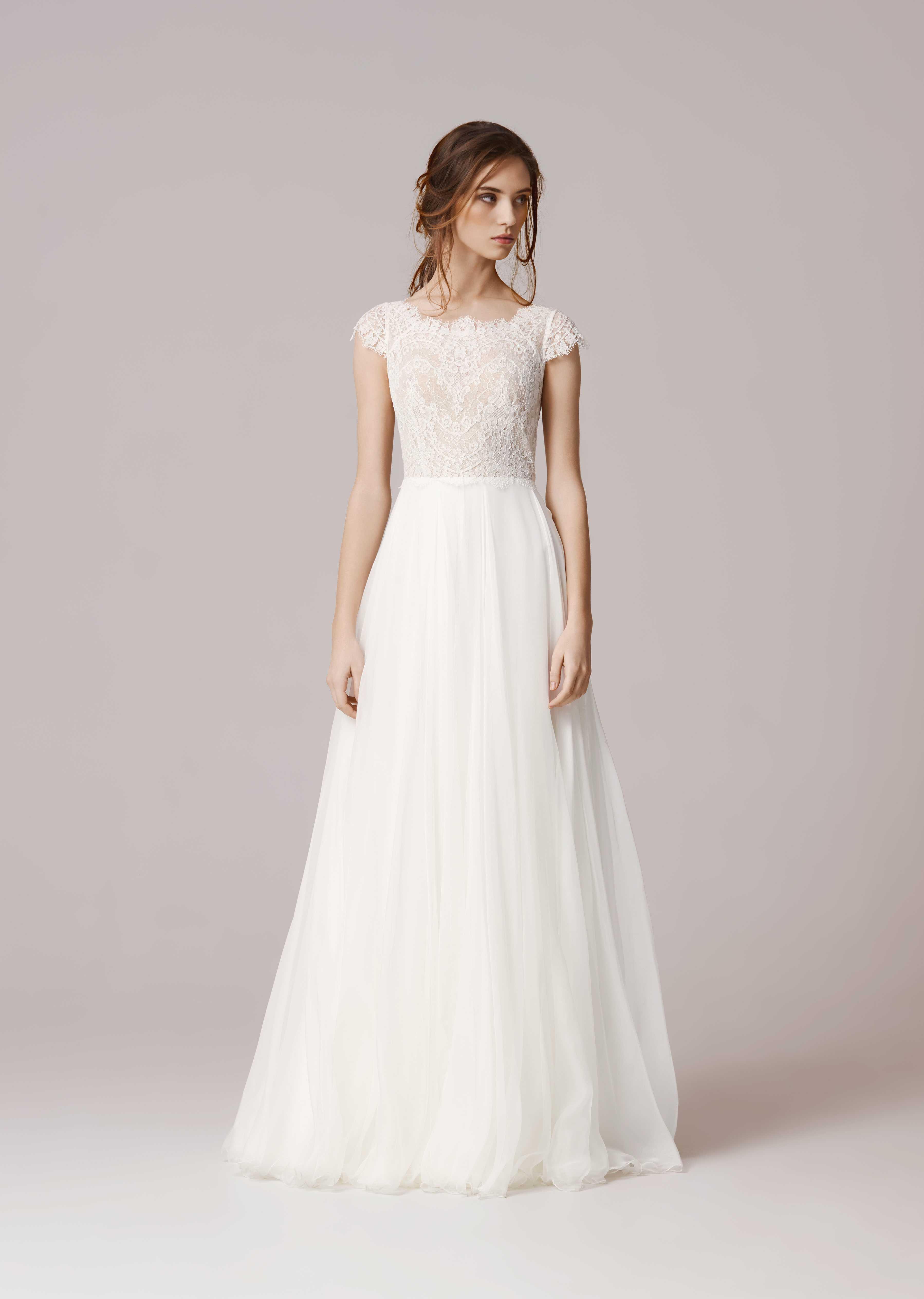 Простое свадебное платье 2017